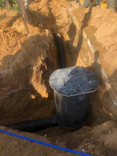 东方市农村污水管网施工现场